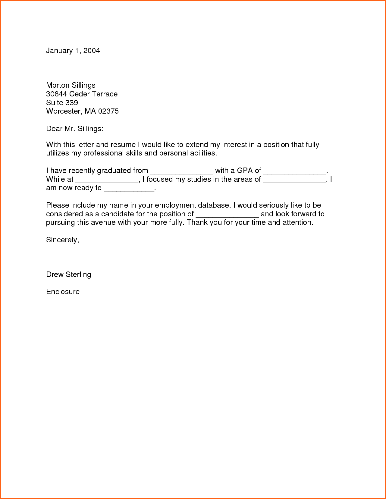 Cover Letter For Graduate School Budget Template Examples