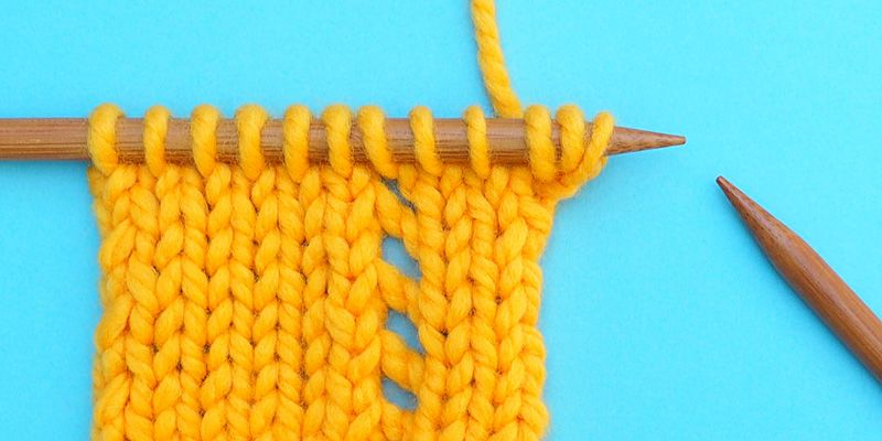 Triple Leaf Edging Step by Step | Knitting stiches, Easy ...
