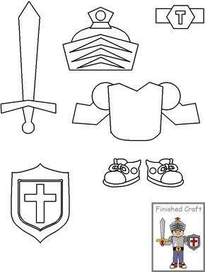 Manualidades Para La Escuela Dominical Armadura De Dios Escudos