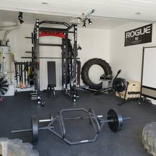 rogue equipped garage gyms  photo gallery  home gym set