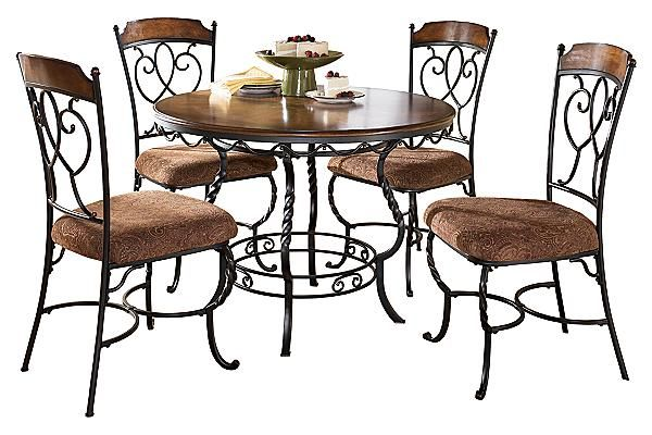 Phenomenal The Nola Dining Room Table With 4 Chairs From Ashley Bralicious Painted Fabric Chair Ideas Braliciousco