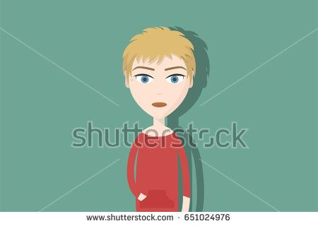 Hipster Cartoon Character Woman With Blond And Short Hair Flat Vector Illustration Hipster Character Illustration Flat Vector Asymmetrical Color Cute