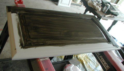 Best Project Glazing The Bathroom Cabinet Black Over Gray 640 x 480