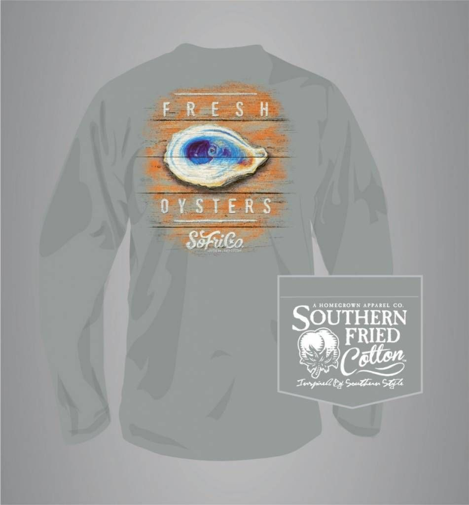3d99a091c98 Southern Fried Cotton Fresh Oysters - Long Sleeve