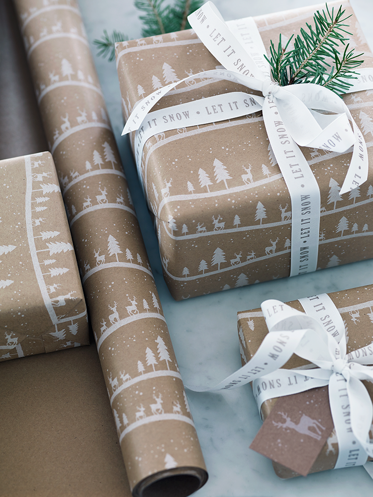 Midwinter Forest Wrapping Paper By Cox Love This