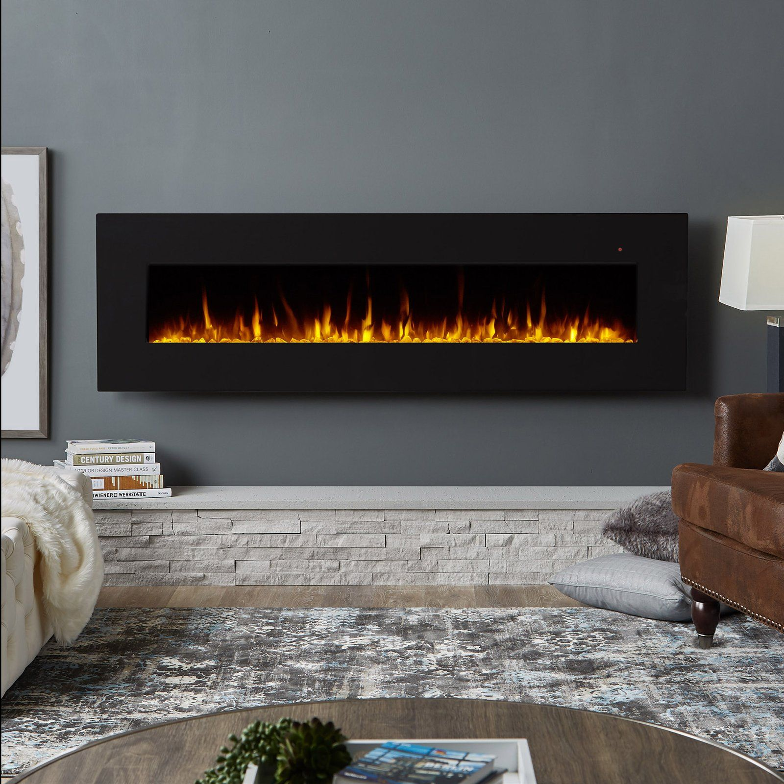 Real Flame Corretto Electric Wall Fireplace Wall Mounted