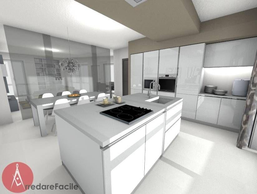 Cucina Moderna con isola (di Arredarefacile by Id.Solutions)   I ...