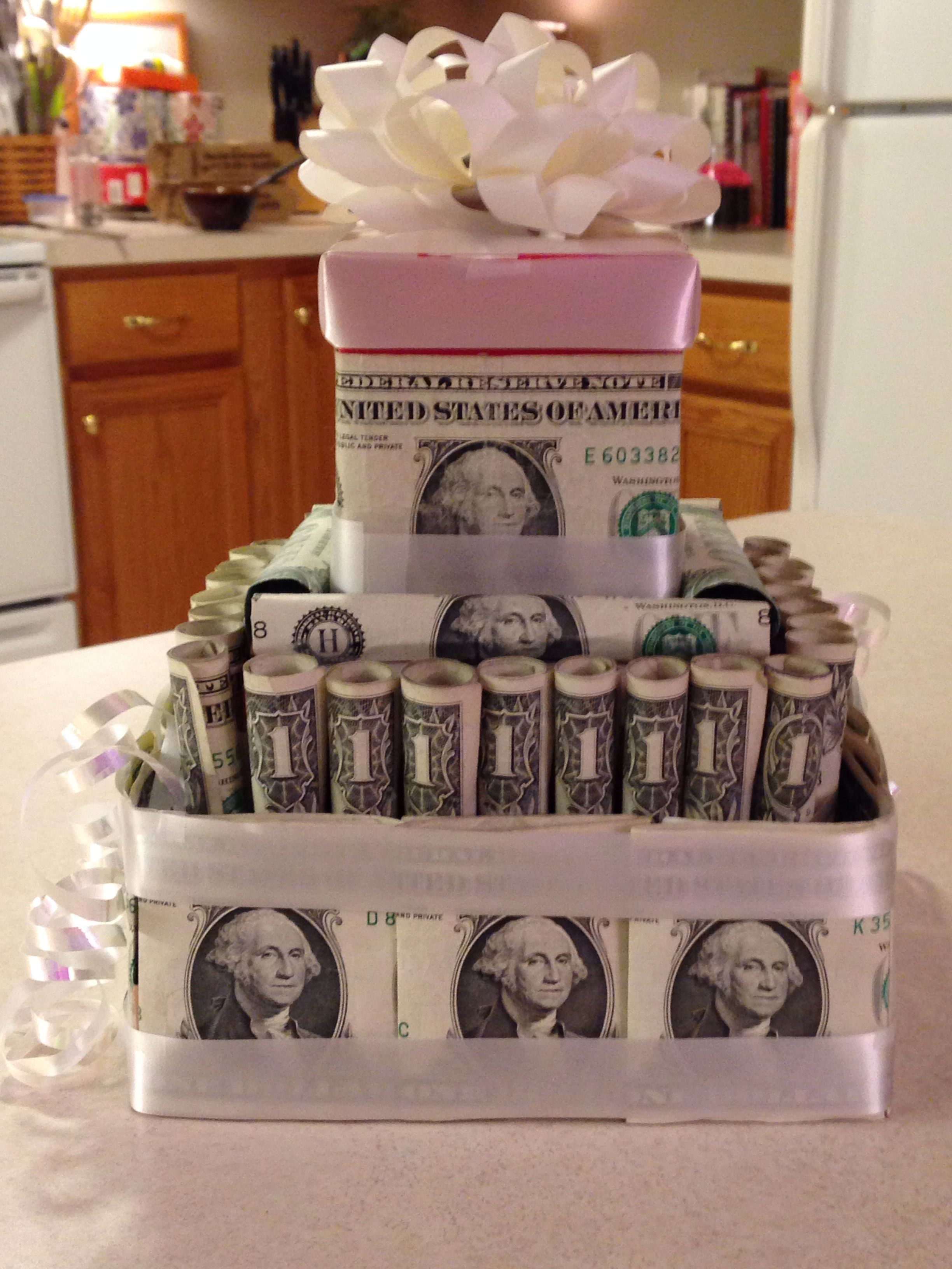 Pin By Trudi Johnson On Gift Ideas Money Cake Gift Cake Creative Money Gifts