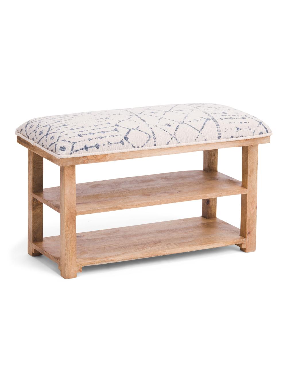 Boho Bench With Storage Seating T J Maxx Bench With Storage Bench Storage [ 1333 x 1000 Pixel ]
