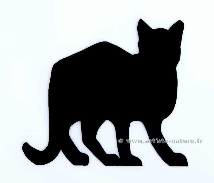 decor chat surpris en acier noir   Déco jardin et façade, décoration ...