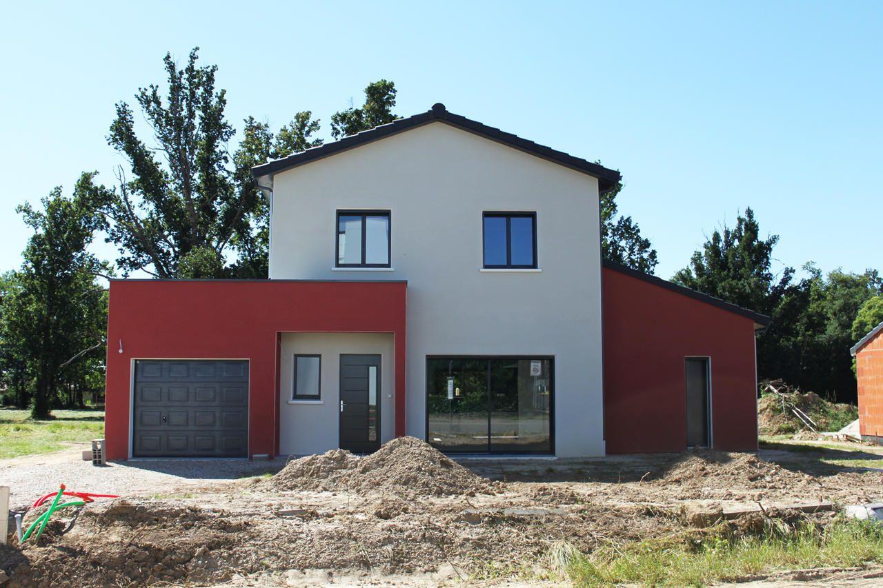 Facades De Maisons En Couleurs facade maison rouge facade maison gris clair | couleur