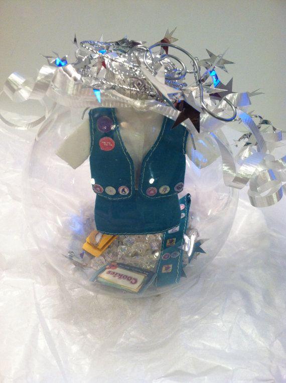 Girl Scout ornament Troop Leader glass globe keepsake by WildKards ...