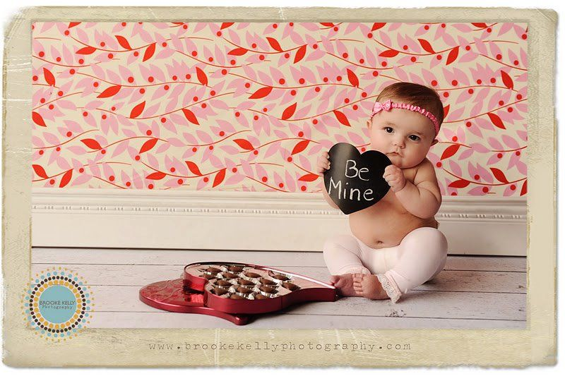 Valentine S Day Baby With Box Of Candy Valentine Photo Ideas