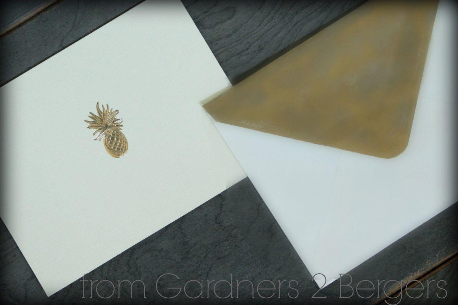 Diy Gilded Envelopes
