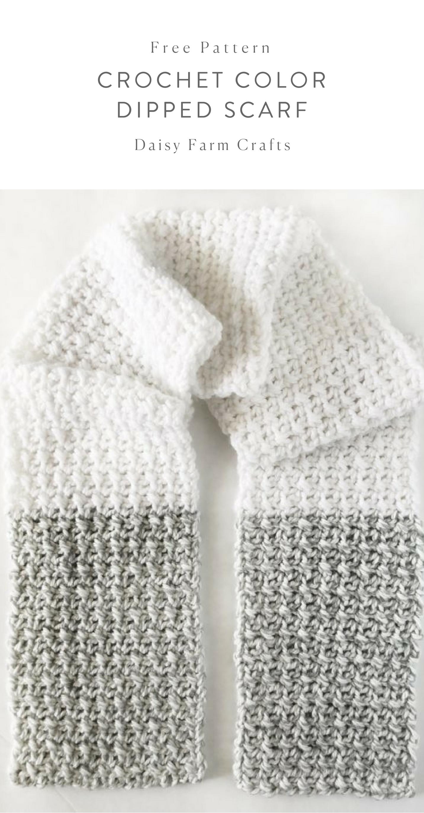 Free Pattern - Crochet Color Dipped Scarf #crochet | crochet ...