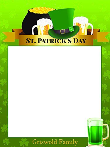Custom Home Decor St. Patrick\'s Day Theme Photo Booth Prop - Size ...