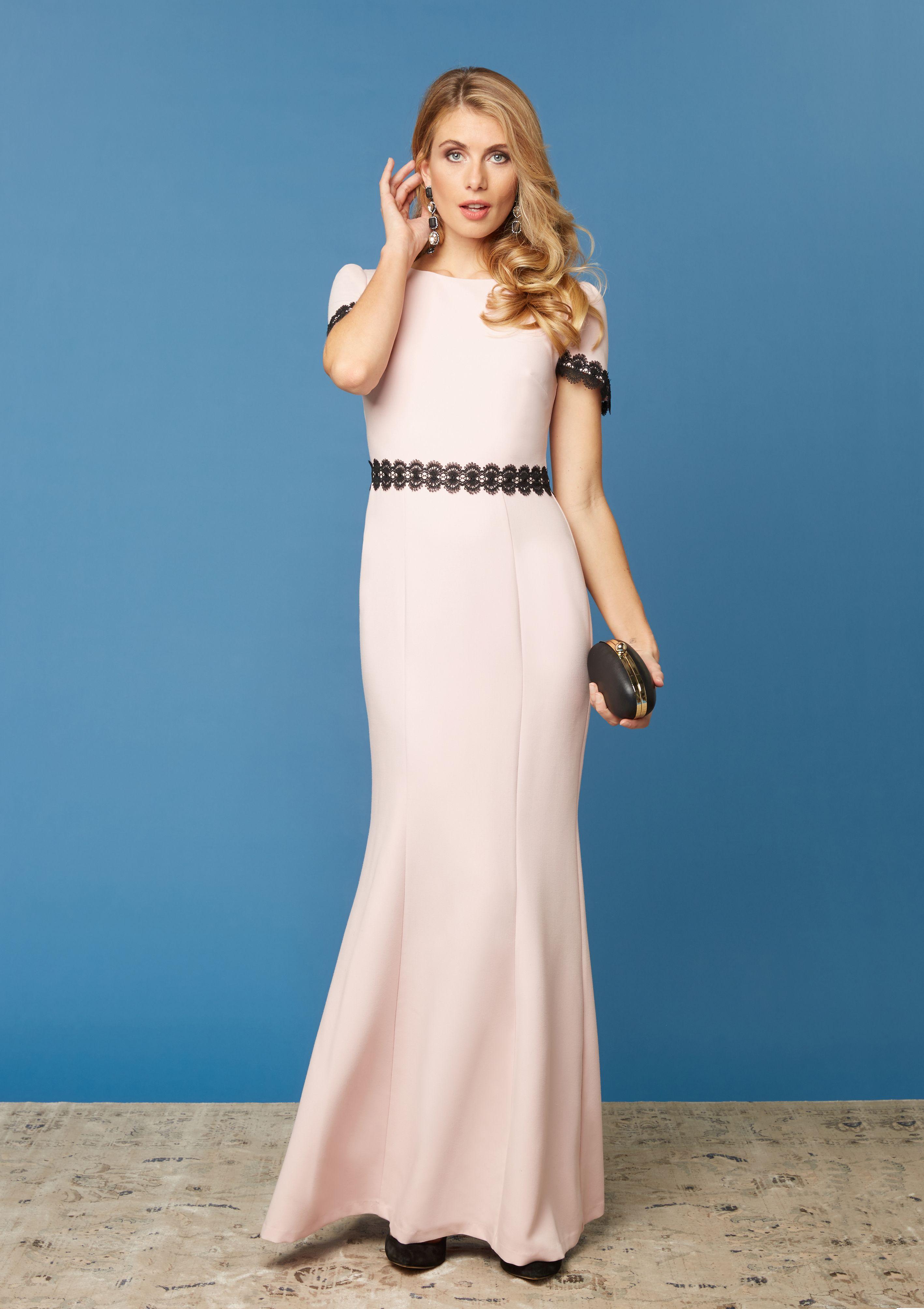 So schön schlicht und elegant! Das hochwertige Abendkleid