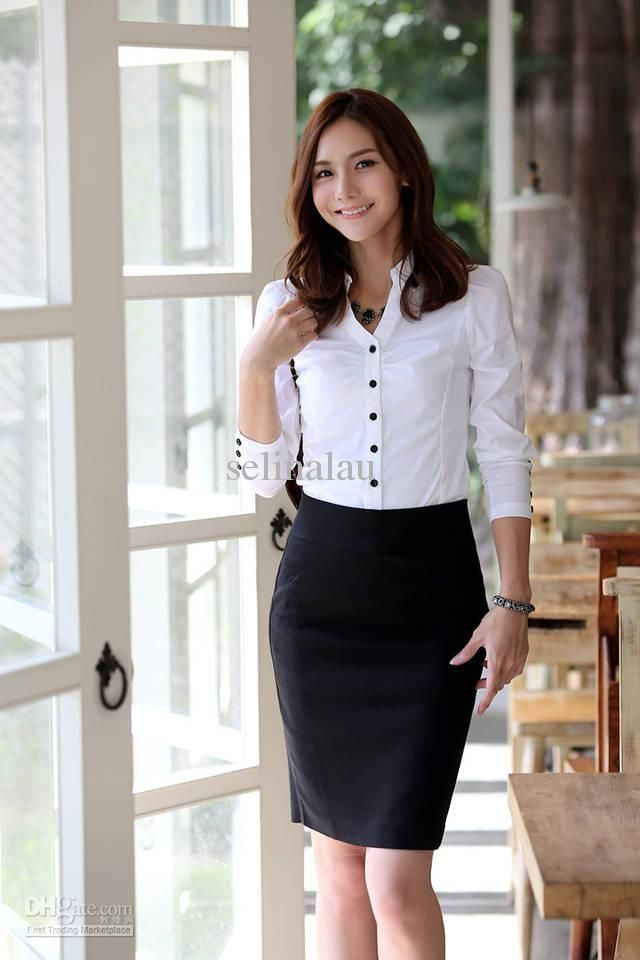V-neck Women Shirts, Long Sleeve Dress, Office Lady Wear 2013 ...