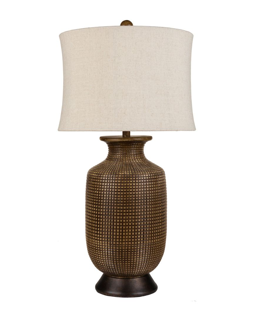 33in One-of-a-kind Oval Wood Lamp is on Rue. Shop it now.