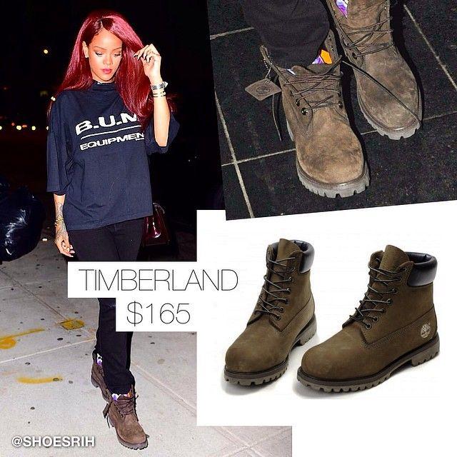 Timberland 6 inch classic wheat dark brown/green boots, @badgalriri