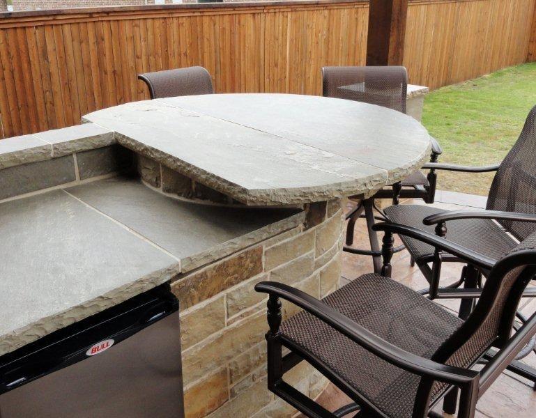 Stone Outdoor Kitchens In Dallas Tx Custom Stone Work Outdoor Kitchen Custom Stone Kitchen Countertops
