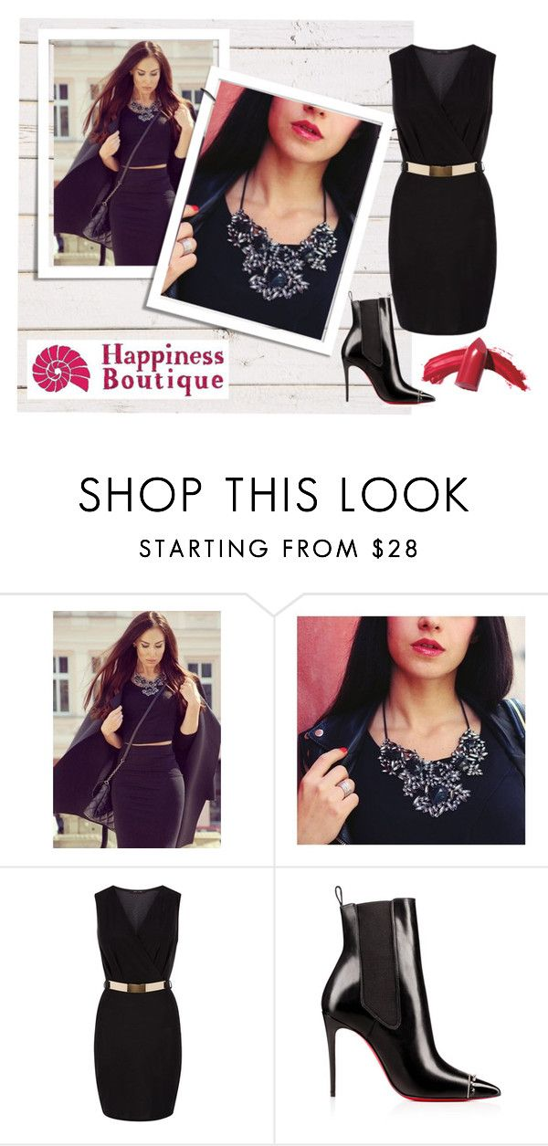 """Black with accents"" by happinessbtq ❤ liked on Polyvore featuring Elizabeth Arden, black, necklace and statementnecklace"