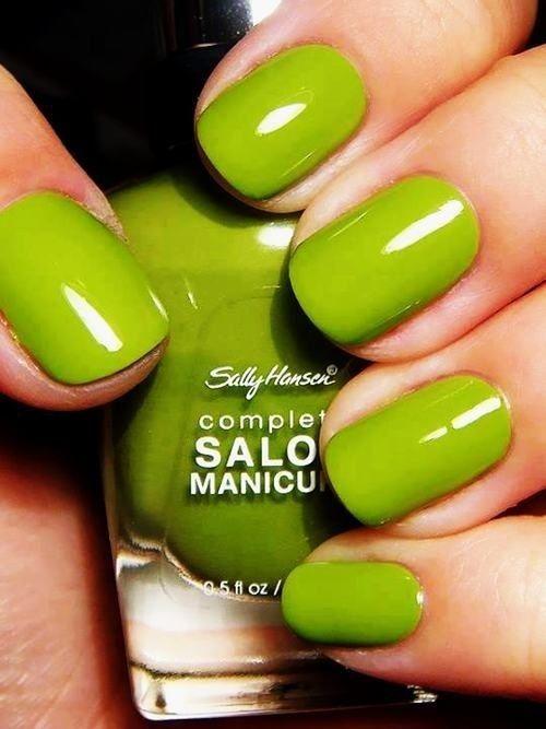 Fotos de uñas color verde | COLOR - LIME FASHION GLAM by Jadranka ...