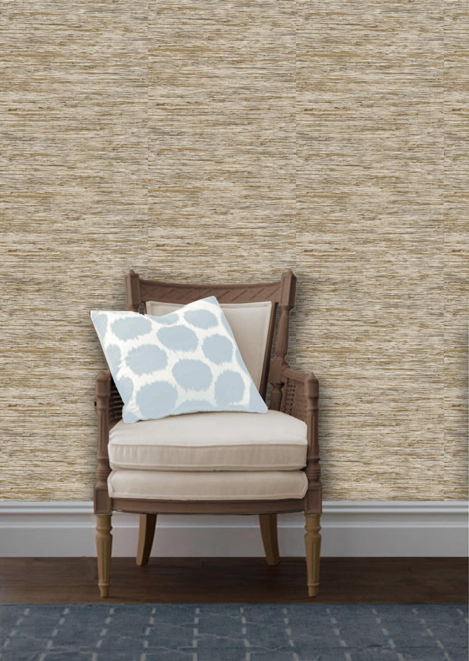 Faux Grasscloth Easy to Apply Removable Peel 'n Stick