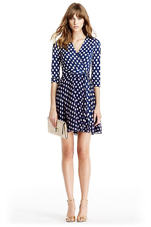 590f3a9d2f5f4 Irina Silk and Chiffon Combo Wrap Dress in in Dotted Batik Indigo ...