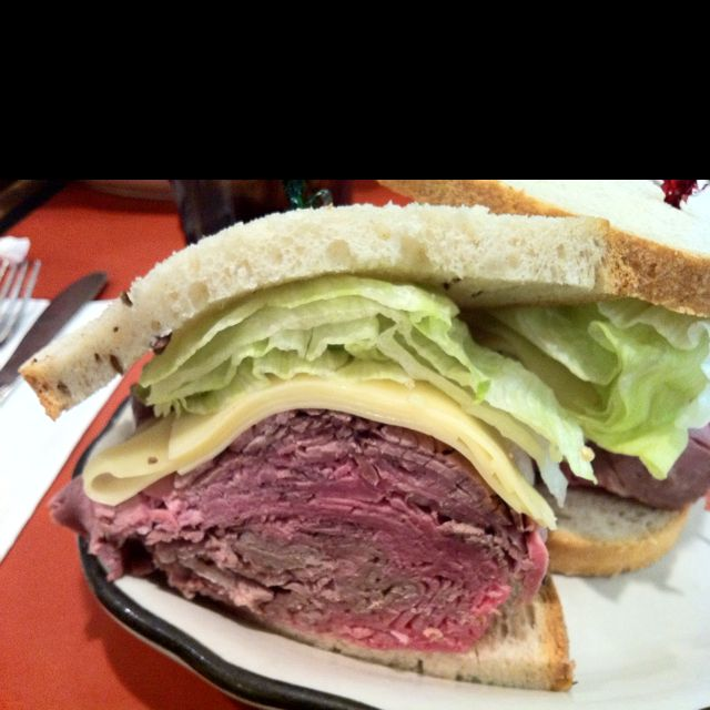 roast beef sandwich from stage deli in nyc food and drink