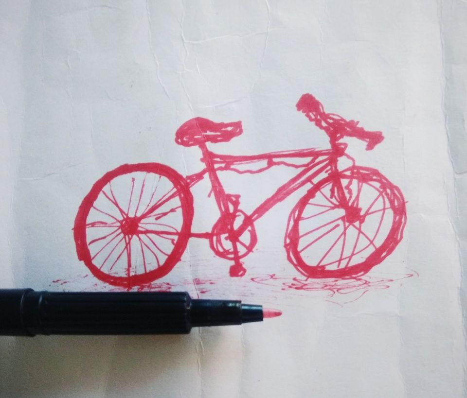 Vsco Sketch Bicycle Inksketch Yashhsharmaa1604 With Images