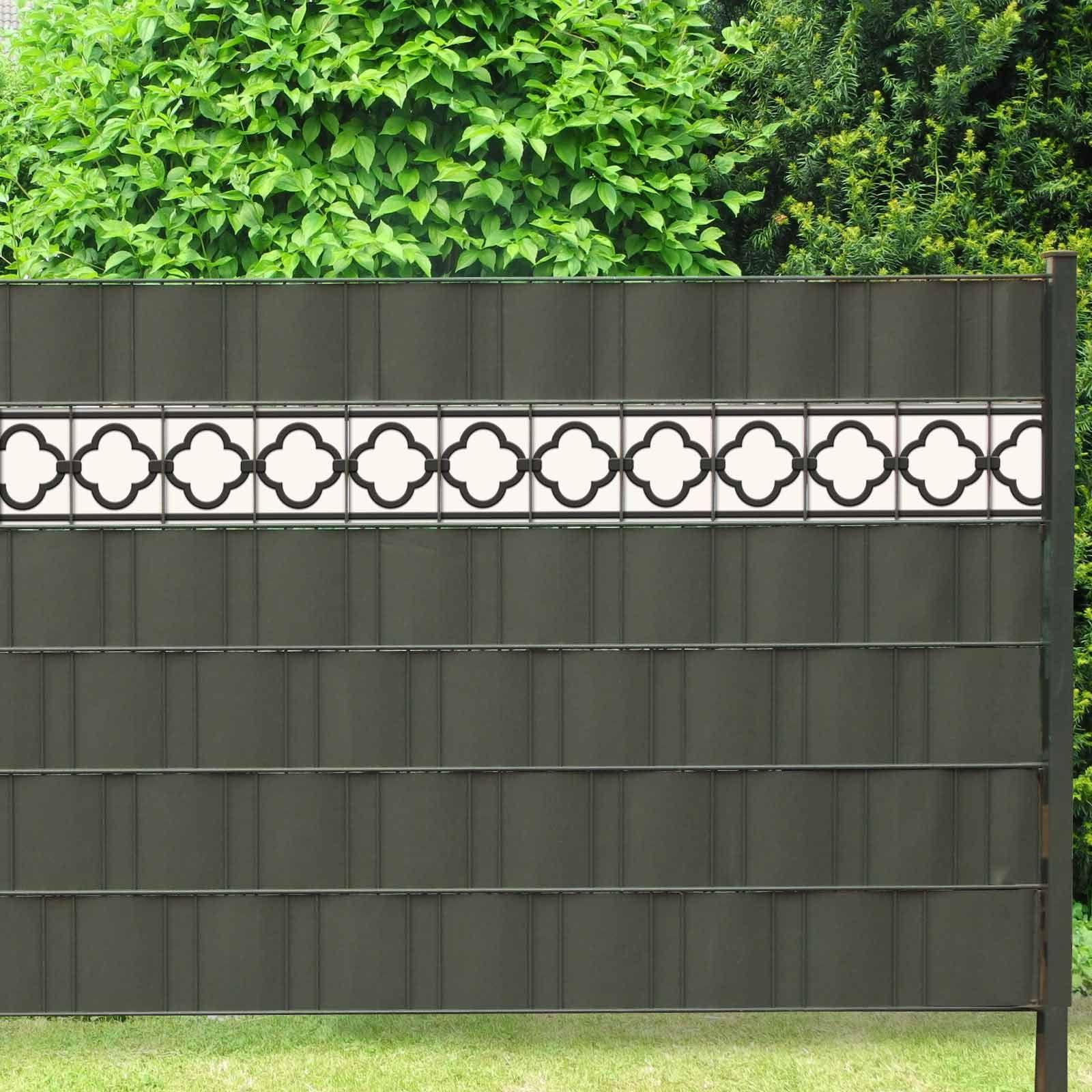 Pvc Design Zaunbordure Motiv Florenz Zaun Zaun Sichtschutz
