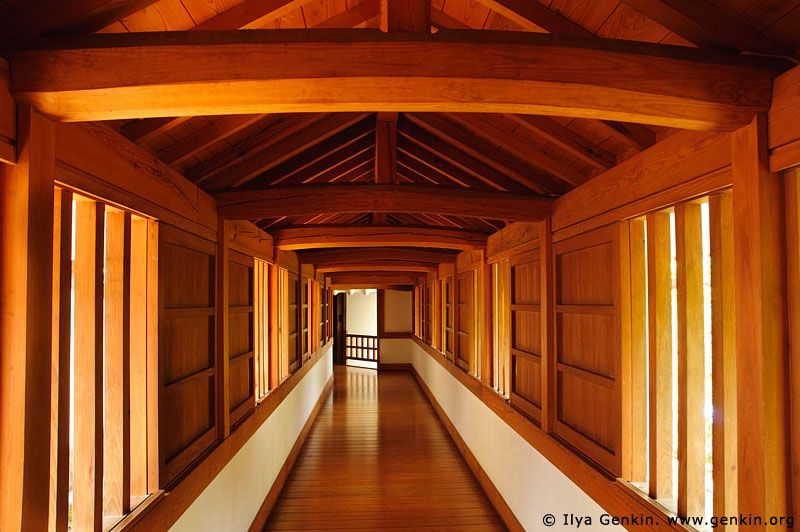 Corridor at Himeji Castle, Hyogo Prefecture, Kansai region, Honshu Island, Japan