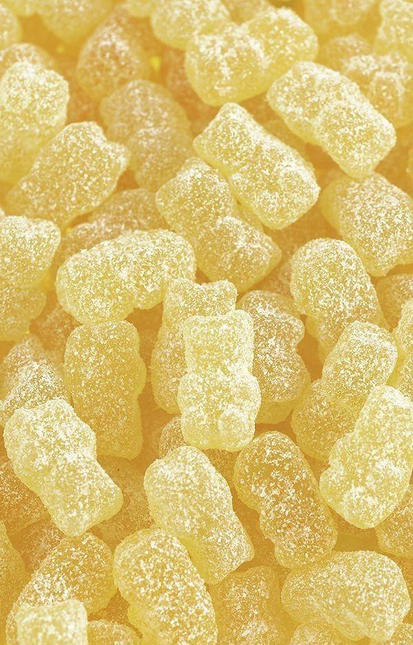 Žluté Gummies cukroví estetický slunný happy věcí
