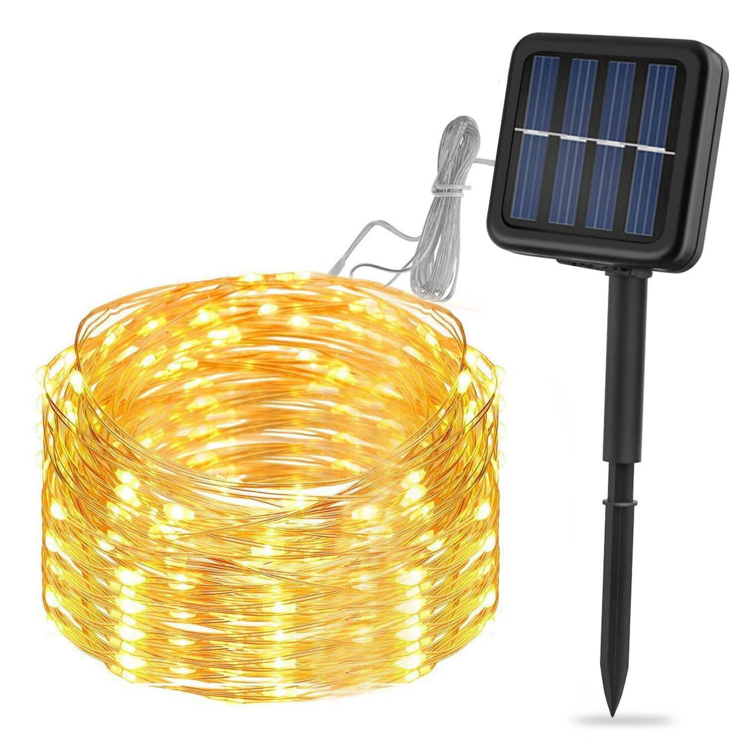 Solar 100 LED String Light Garden Path Yard Decor Lamp Outdoor Party Waterproof