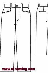 Pantalón sport para hombre. Molde para descargar | EL BAÚL DE LAS COSTURERAS