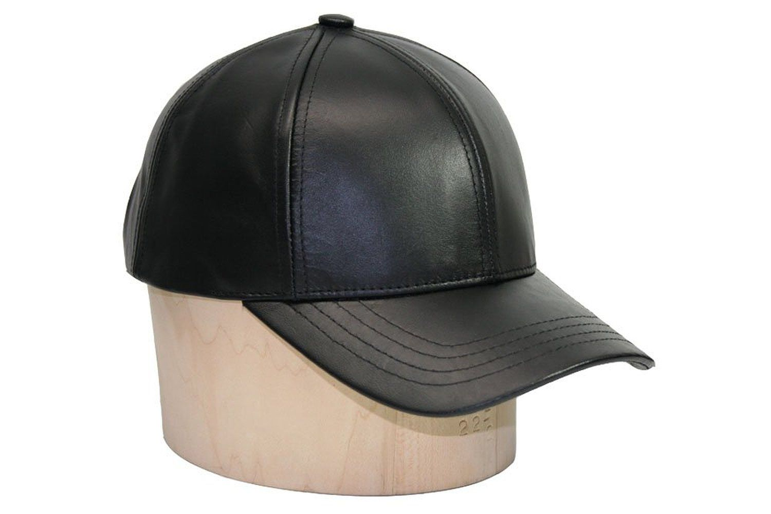 db8ec54c6ec Black Leather Adjustable Baseball Cap Hat Made in USA at Amazon Women s  Clothing store  Leather Caps Hats Men