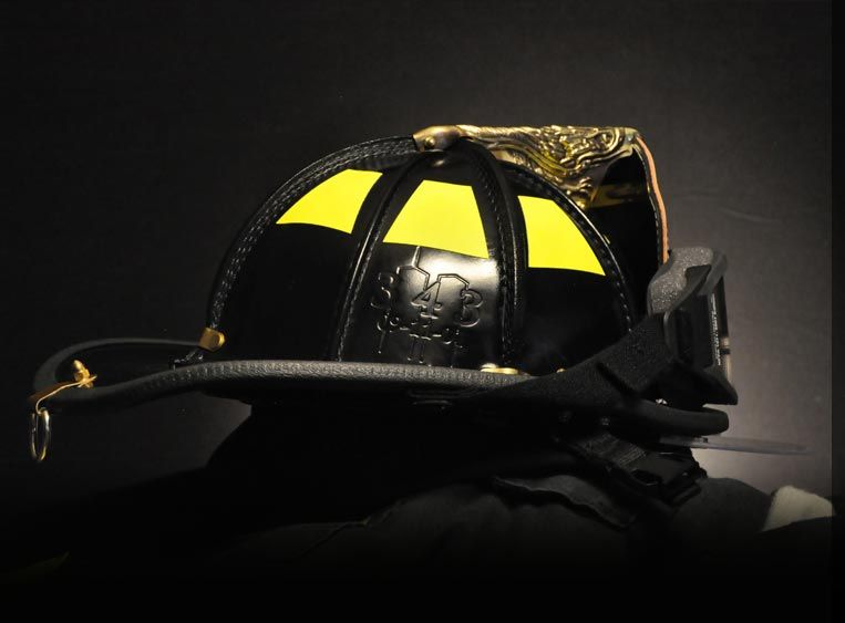American heritage 9 11 leather tribute helmet black for Gear company of america