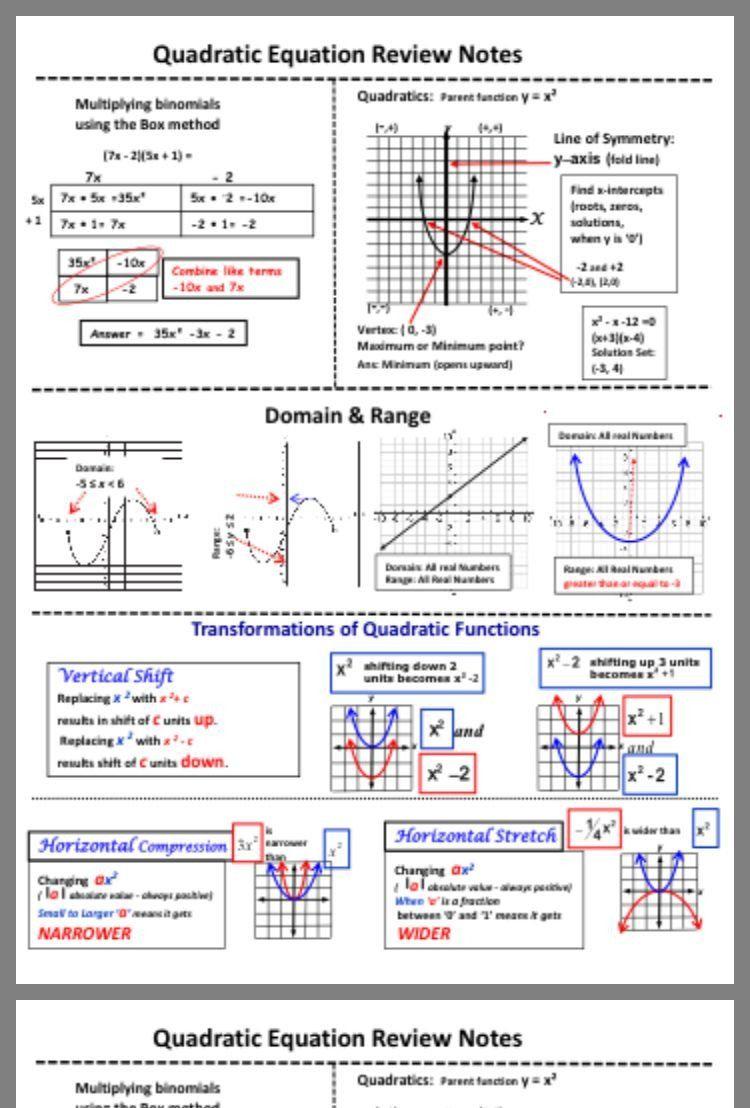 Quadratic Functions Worksheet With Answers Pin By Valentinadÿ Dÿ Dÿ On Math In 2020 Quadratic Functions Quadratics School Algebra