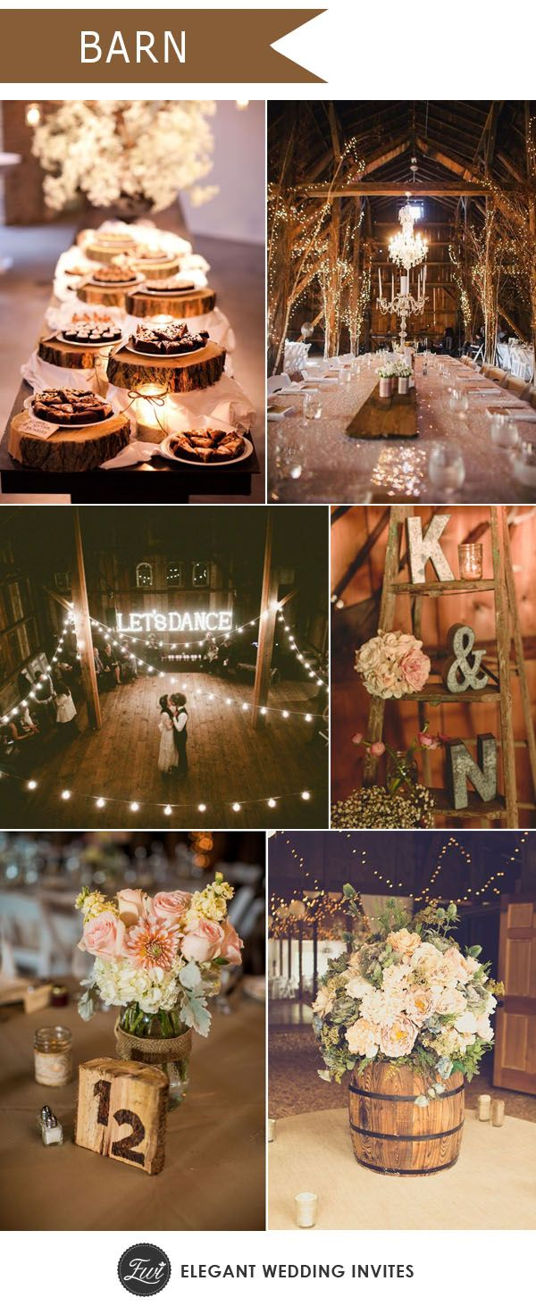 Wedding reception wedding decorations 2018  Ten Trending Wedding Theme Ideas for   Barn Farming and Theme