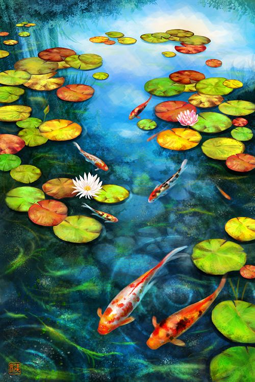 Koi ponds can be designed specifically to promote health for Koi pool paint