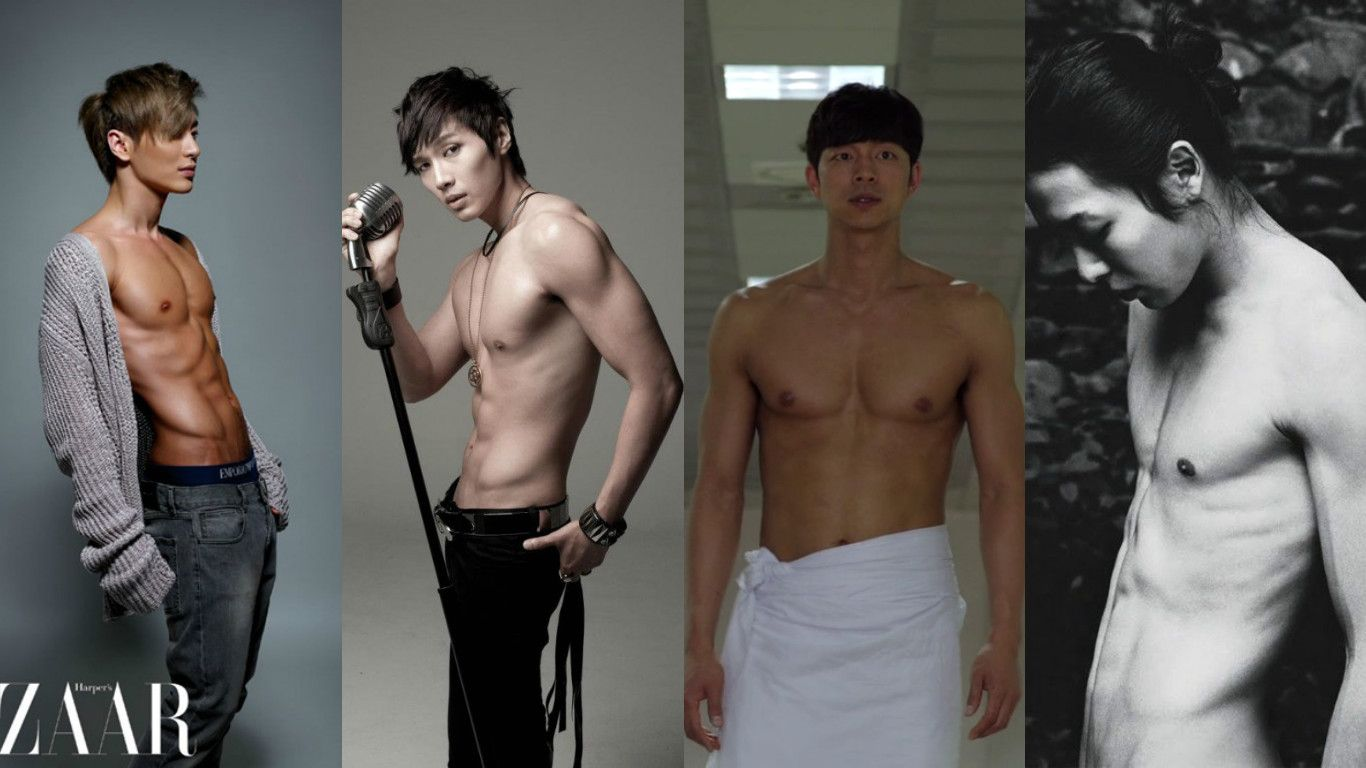 9 Korean Stars With The Hottest Post Military Abs Gong Yoo Shirtless Korean Star Exo Abs