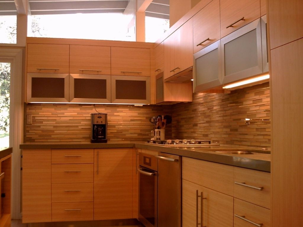 Kitchen: Gorgeous Bamboo Kitchen Cabinets Calgary Also ...