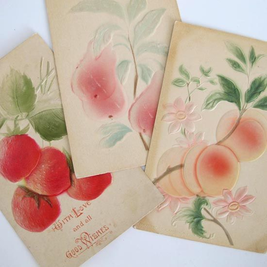 Vintage Fruit Postcards, $12.95. Buy it here: http://www.curioussofa.com/index.php?main_page=product_info=13_id=1280