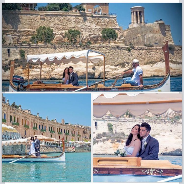 Beautiful wedding pictures taken in Malta's port; Valletta