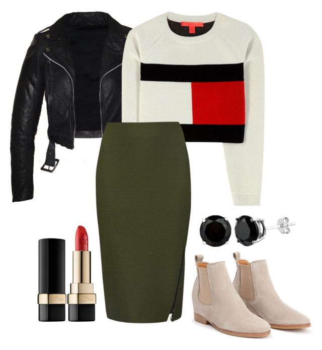 """casual: khaki"" by paluna on Polyvore featuring moda, Tommy Hilfiger, M&S Collection i Dolce&Gabbana"