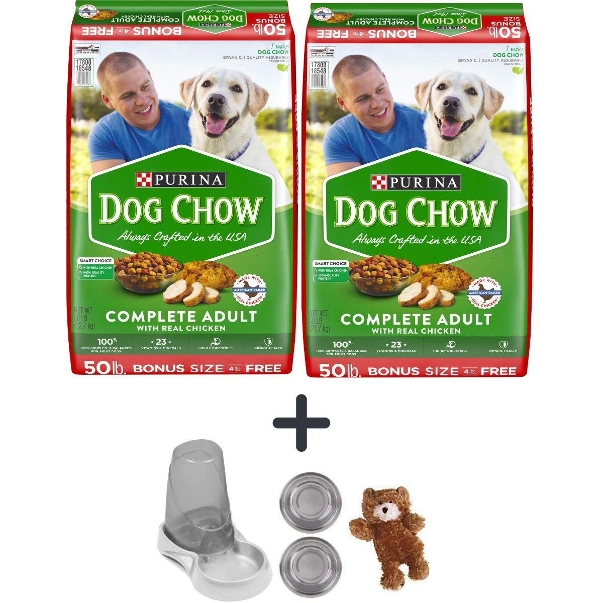 Purina Pack Of 2 50 Lbs Dog Chow Complete Adult Chicken Dry Dog