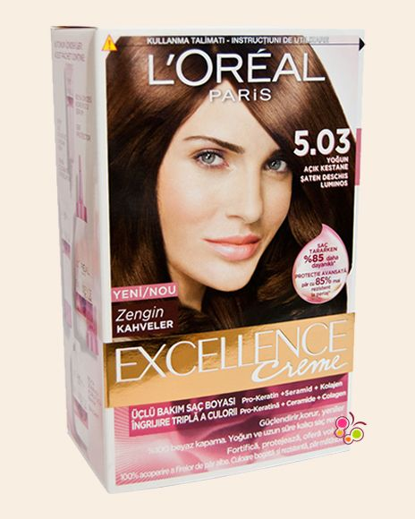 Loreal Paris Excellence Creme Sac Boyasi 5 03 Yogun Acik Kestane