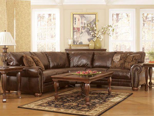 Durablend Antique 2pc Sectional 0qq 213 2pc Furniture