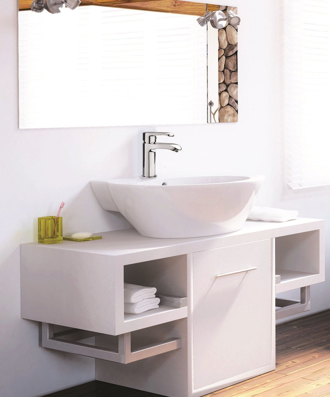 Idee Salle De Bain Epuree ~ le mitigeur de lavabo bas dyva avec bec cascade avec sa ligne pur e